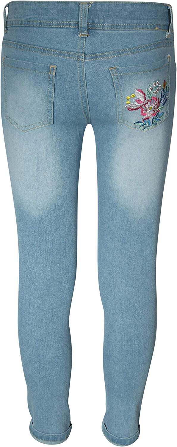dELiAs Girls/' Denim Jeans with Embroidered Flowers