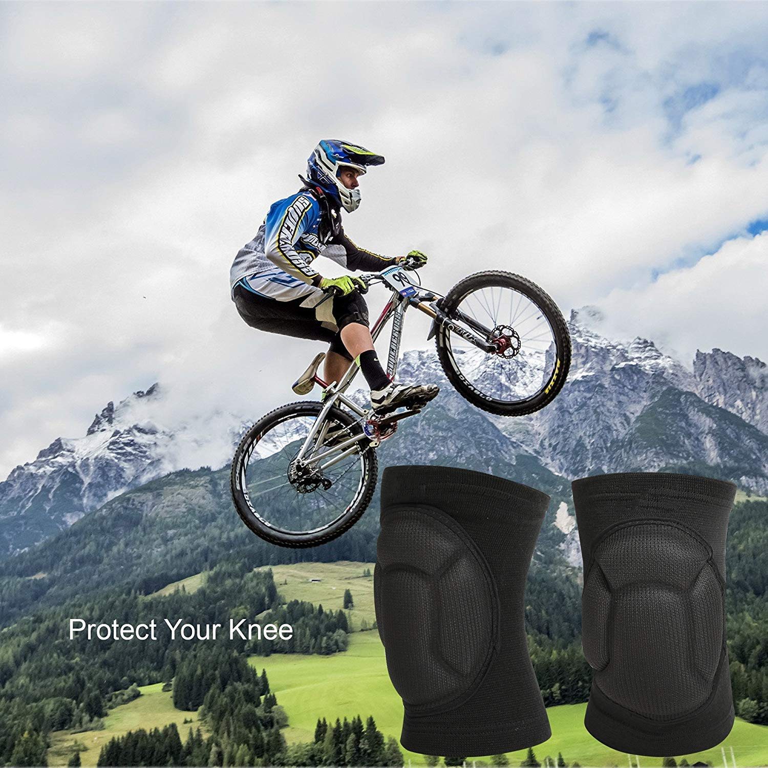 TY BEI Kneepad Kneepad - Protective Knee Pads, Thick Sponge Anti-Slip, Collision Avoidance Knee Sleeve @@ (Color : Black) by TY BEI (Image #7)
