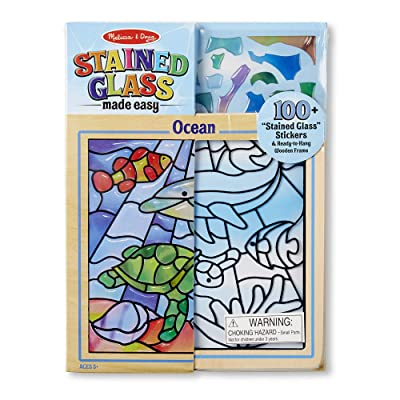 "Melissa & Doug Peel & Press ""Stained Glass"" Undersea Fantasy: Melissa & Doug: Toys & Games"