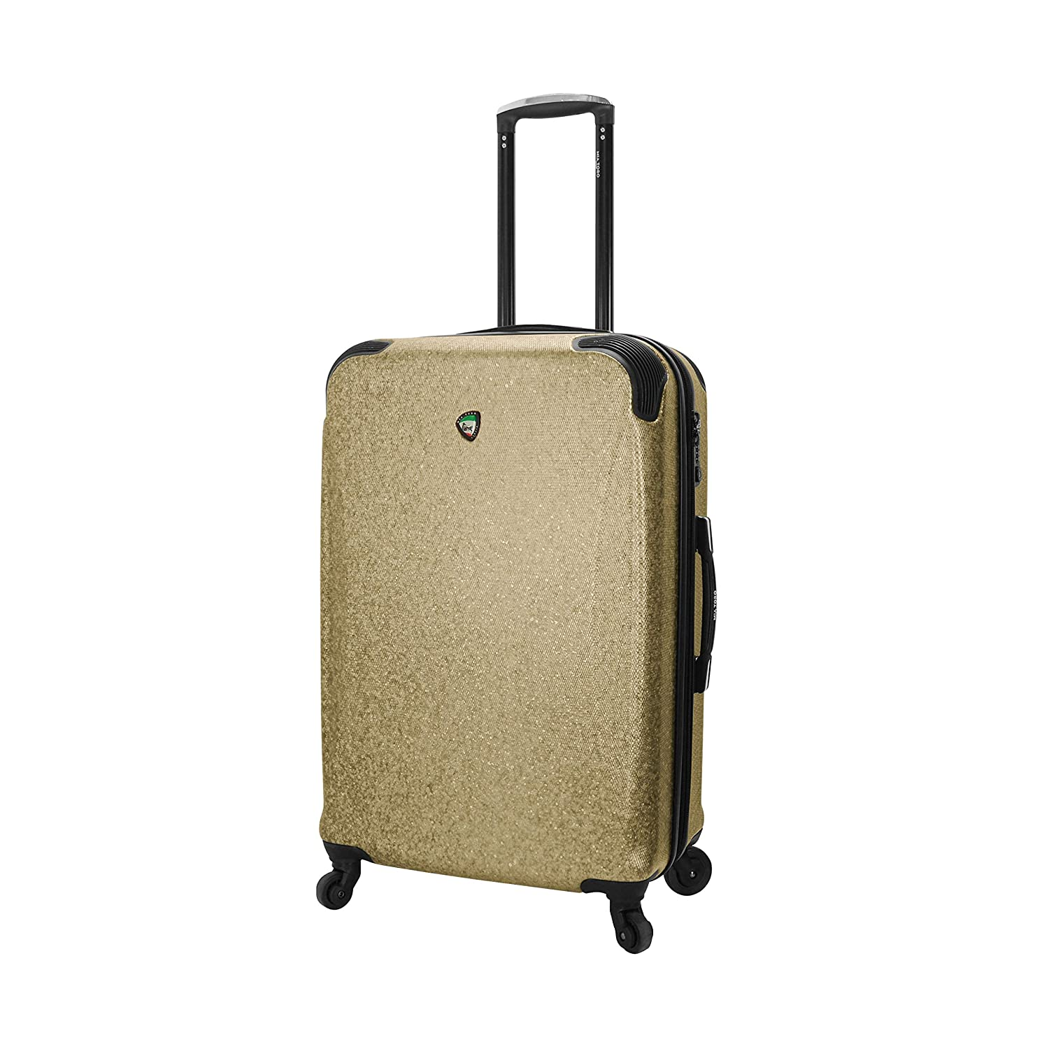 Mia Toro Italy Crosetti Hardside Spinner Carry-on-Gold