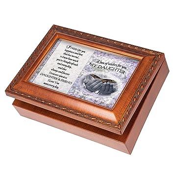 Amazoncom My Daughter Butterfly Wood Finish Jewelry Music Box