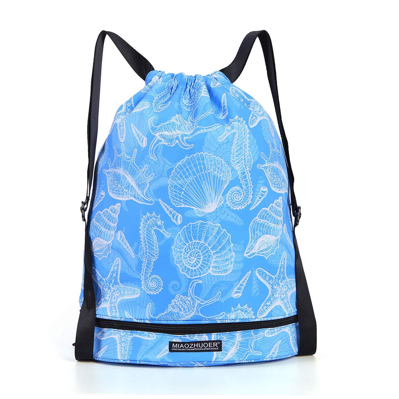 I Dry Wet Drawstring Bag Waterproof String Backpack Swim Pool Beach Travel Gym Bag