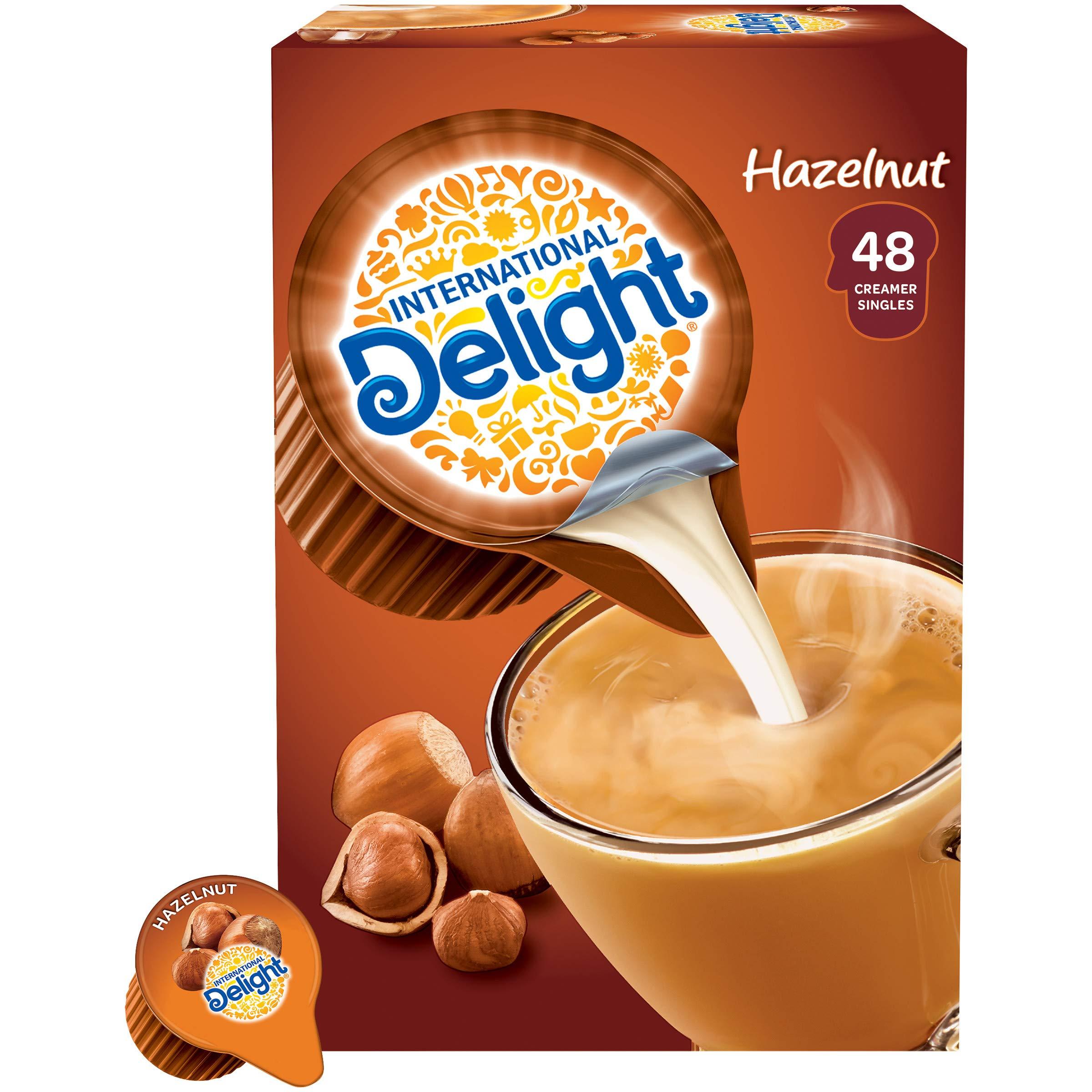 International Delight Coffee Creamer Singles, Hazelnut, 48 Count (Pack of 4)
