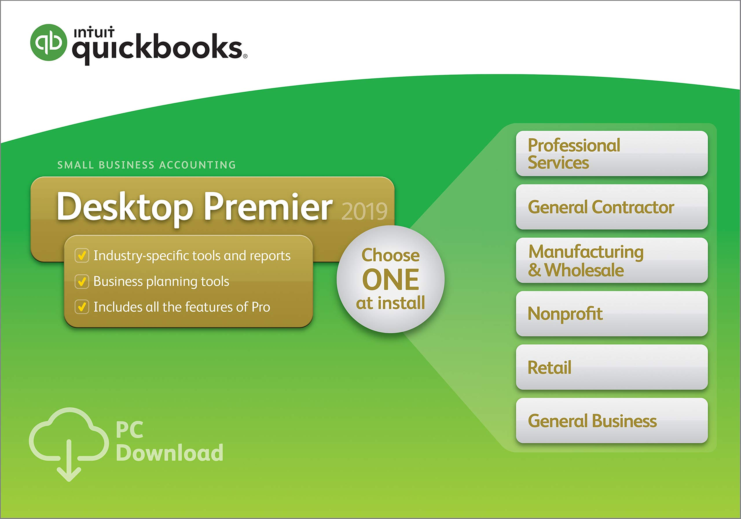 QuickBooks Desktop Premier 2019 [PC Download] by Intuit
