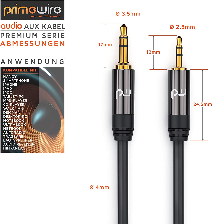 Csl 1 5m Klinkenkabel 2 5mm Zu 3 5mm Audio Elektronik