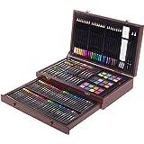 ZagGit 143 Piece Deluxe Art Creativity Set in Wooden Case