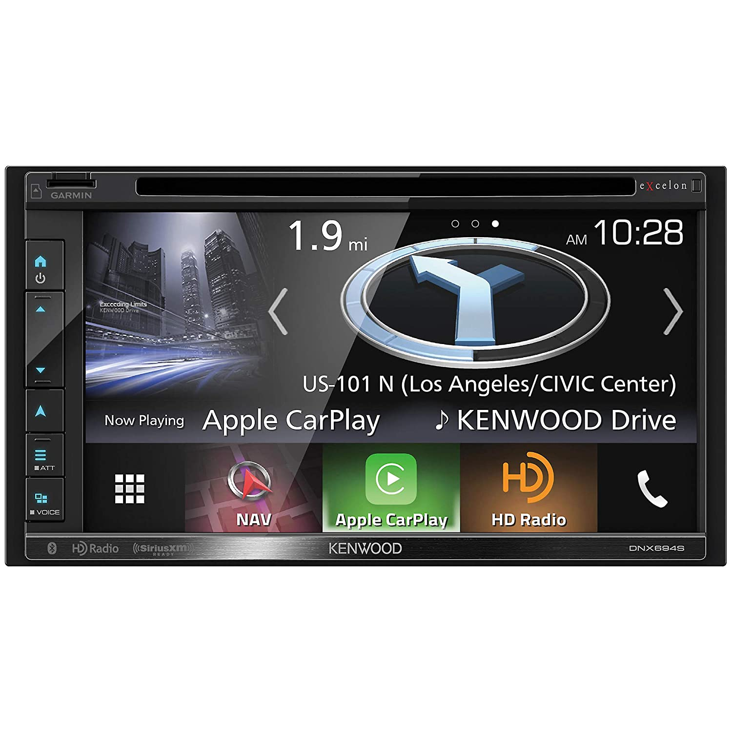 """Kenwood Excelon DNX694S In-Dash Navigation with 6.8"""" Touchscreen Display"""