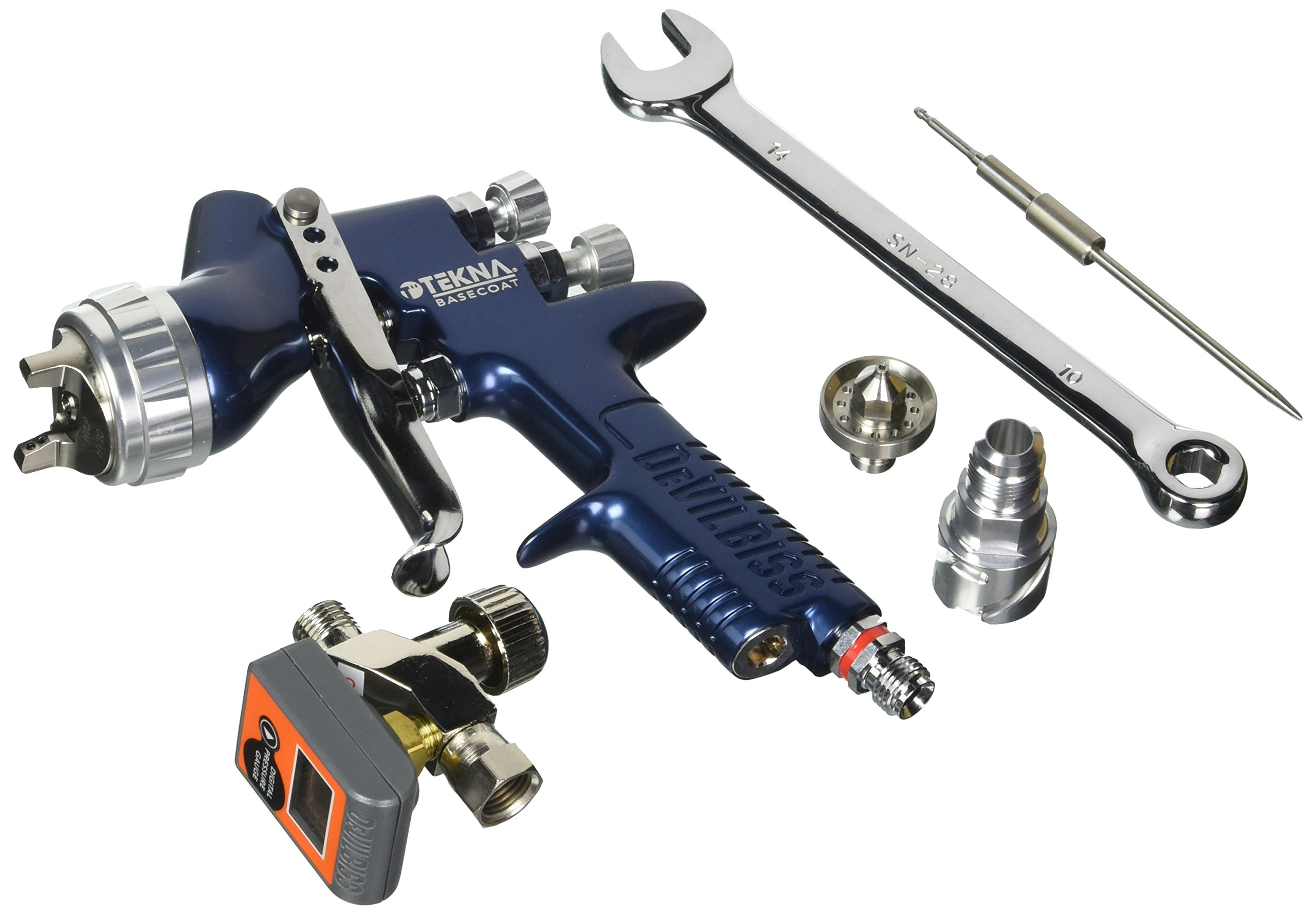 DeVilbiss 703893 Spray Gun (1.3 and 1.4 Needle/Nozzle and No Cup) by DeVilbiss