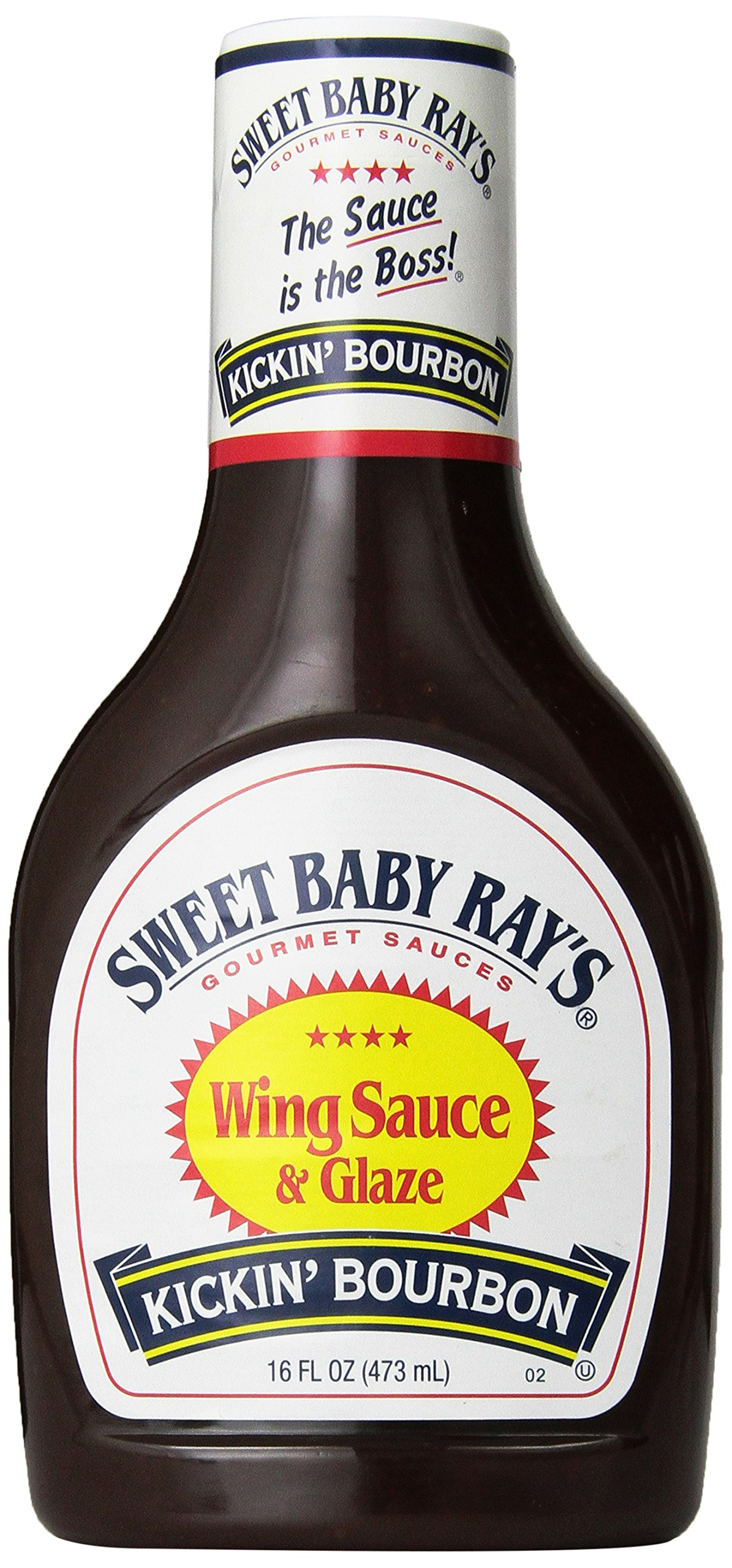 Sweet Baby Ray's, Wing Sauce & Glaze, Kickin' Bourbon, 16oz Bottle (Pack of 3)