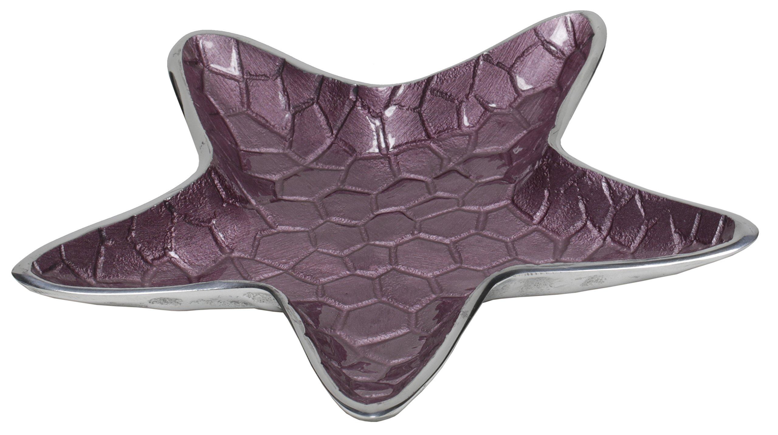 Artisan d'Orient Star Plate, Color - Purple, Set of 12