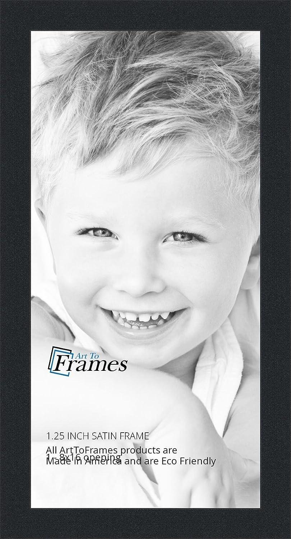 Amazon.com - ArtToFrames 8x16 inch Satin Black Picture Frame ...