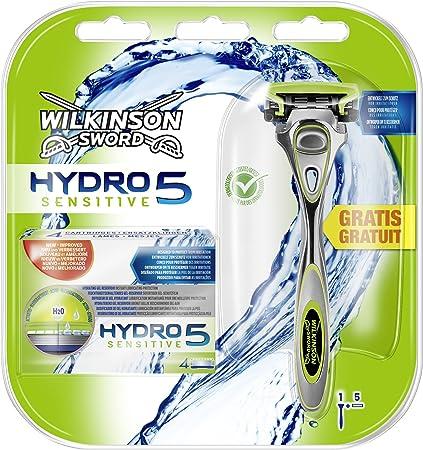 Wilkinson Sword Hydro 5 Sensitive, 5 hojas con cuchilla afeitadora ...