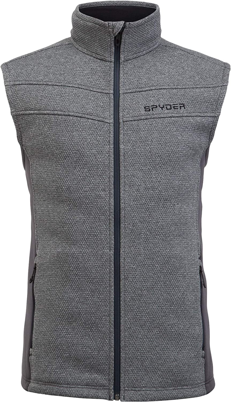 Male Full Zip Sleeveless Sweater Vest Spyder Men/'s Encore Fleece Vest