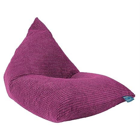 Lounge Pug®, Puff Pera Relajarse para niños, Pompón - Rosa ...
