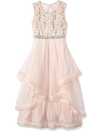 08bd67226bb Speechless Girls  7-16 Tween Sparkle Waist Party Dress with Wide Ribbon Hem