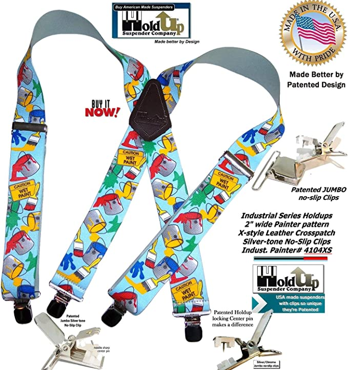 "Suspenders 2/""x48/"" FULLY Elastic Tradesman Painter NEW"