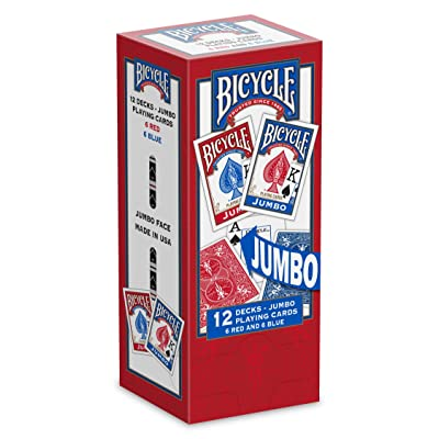 Bicycle Jumbo Playing Cards, 12-pack: Sports & Outdoors
