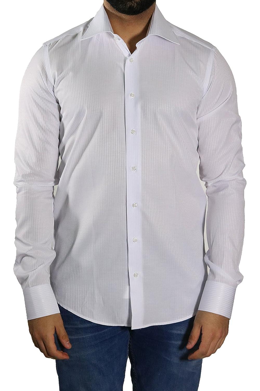 81ecd14ffc MMUGA - Camisa formal - Rayas - Manga Larga - para hombre