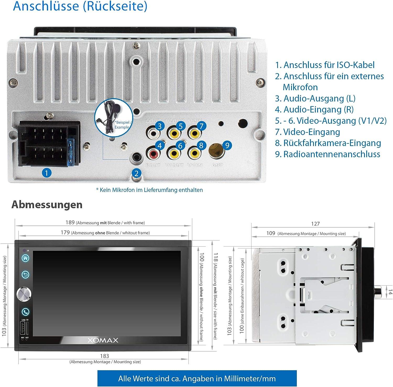 Xomax Xm 2v766 Autoradio Mit Mirrorlink Bluetooth Elektronik