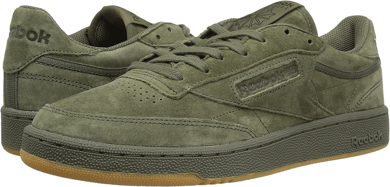 649e2cbd51ea Reebok Lifestyle Men s Club C 85 TG Hunter Green Poplar Green Gum Athletic  Shoe  Buy Online at Low Prices in India - Amazon.in