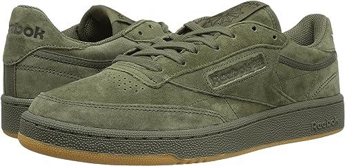 115c36f6b5b Reebok Lifestyle Men s Club C 85 TG Hunter Green Poplar Green Gum Athletic  Shoe