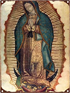 Our Lady of Guadalupe Metal Tin Sign Retro Metal Wall Stickers Decorative Plaques Shabby Chic Pub Bar Cafe Kitchen Decor