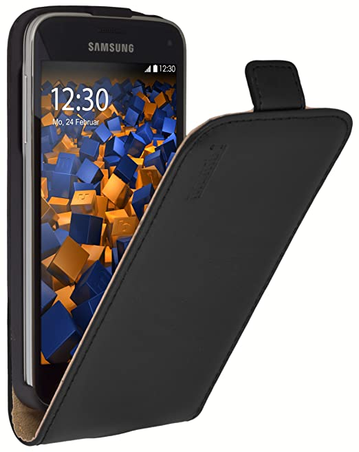 2 opinioni per Mumbi- Custodia Flip per Samsung Galaxy S5 mini, nero