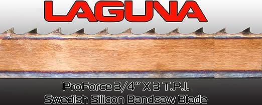 "1//4/"" X 6 TPI X 99 3//4/"" Bandsaw Blade Laguna Tools Proforce Wood Band Saw Blade"