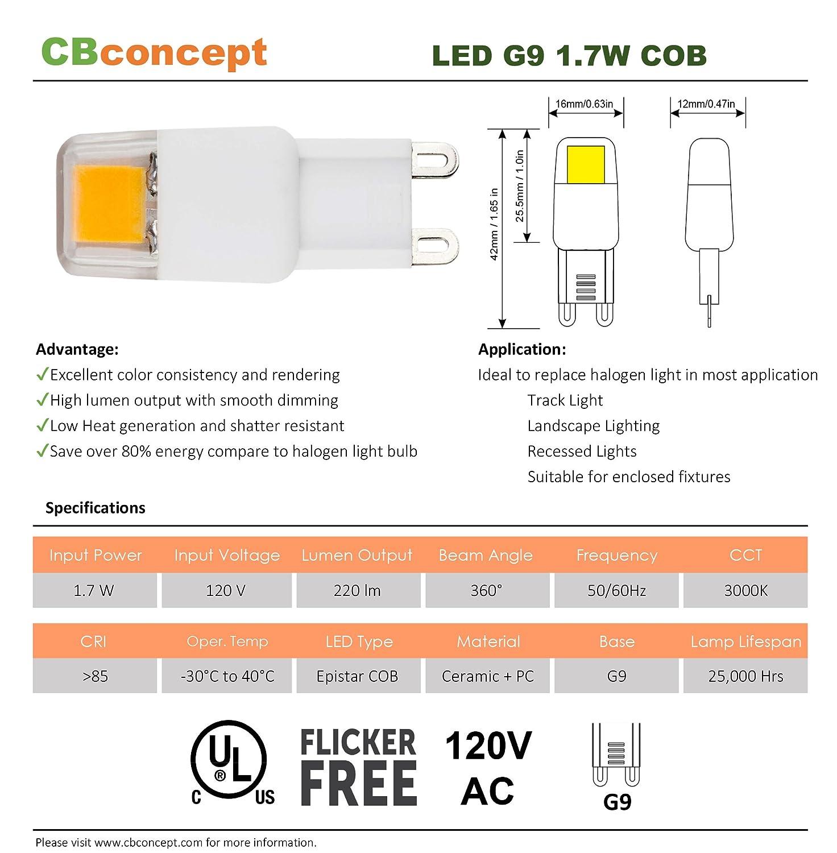 For Accent Lighting Puck Light Ceramic Base Looped Pin 20W Halogen Light Bulb Chanderlier 110V CBconcept San Francisco 10XG9120V25WC Clear JCD G9 Range,RV /& Landscape Lighting 120V AC 25 Watts 10 Bulbs