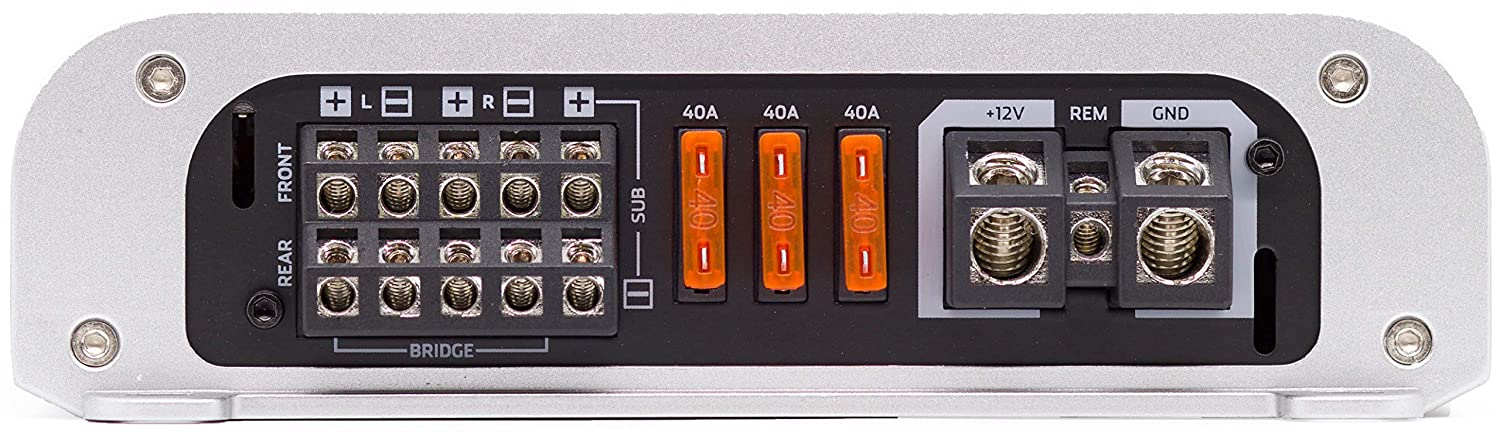 NVX VAD11005-1100W Full Range Class D 5-Channel Car//Marine//Powersports Amplifier with Bass Remote
