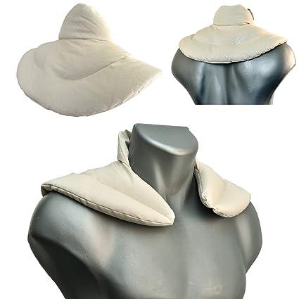 Cojín cervical térmico con cuello. Algodón biológico blanco ...
