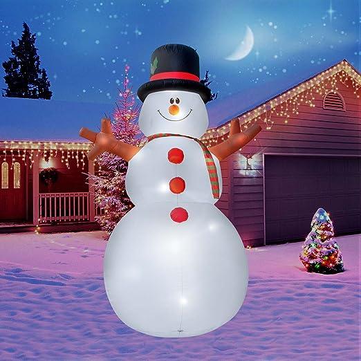 holidayana Navidad inflable gigante 15 ft. Muñeco de nieve ...