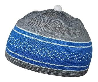 41e1c848fc8 Amazon.com  Al-Ameen Set 4 Muslim Children Baby Skull Cap AMN061 Beanie  Islam Kufi Hat Crochet Takke  Clothing