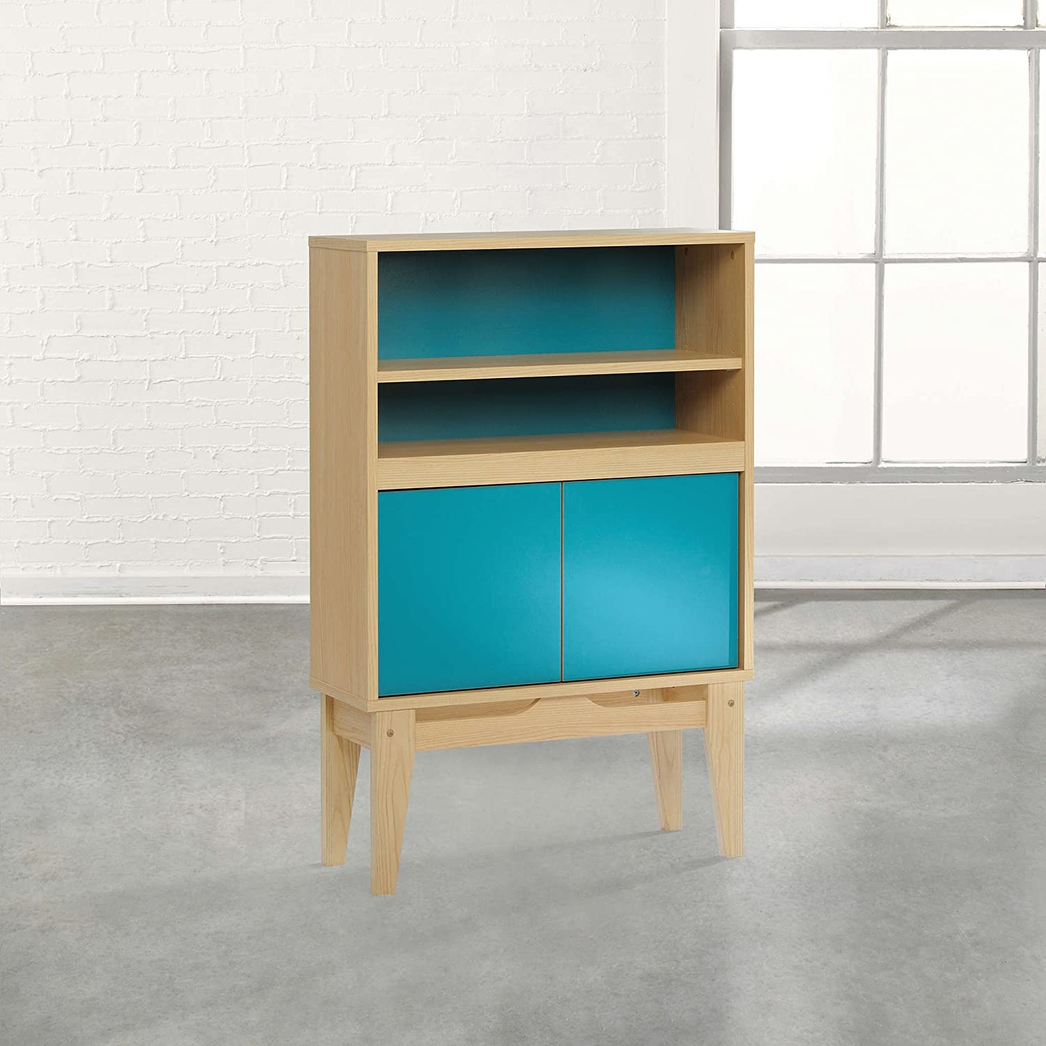 Sauder Soft Modern 2 Shelf Bookcase in Urban Ash 416952