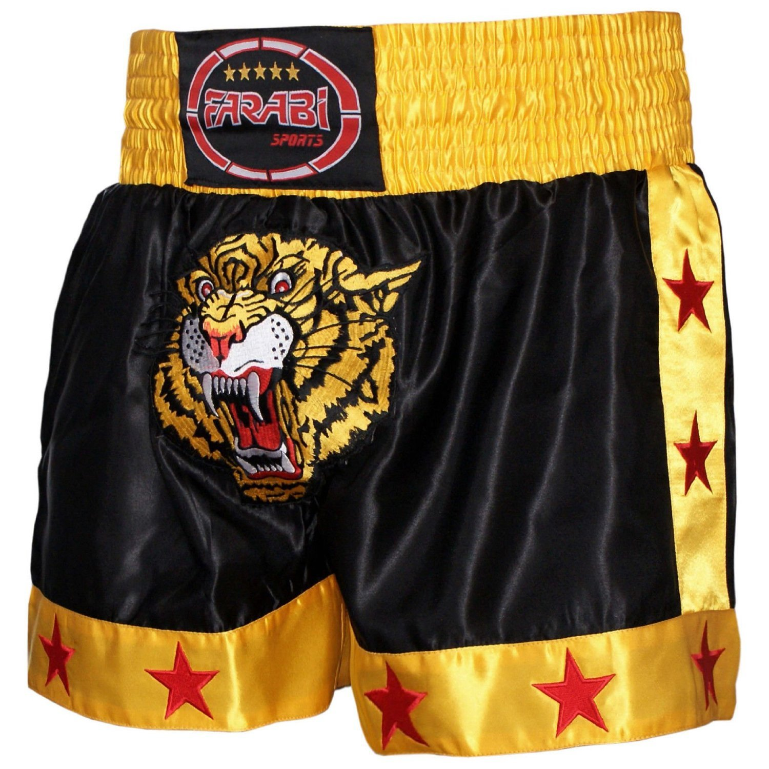 Muay Thai Shorts MMA Boxing Cage Fighting Kick Boxing Tiger Emorided Trunks Farabi Sports
