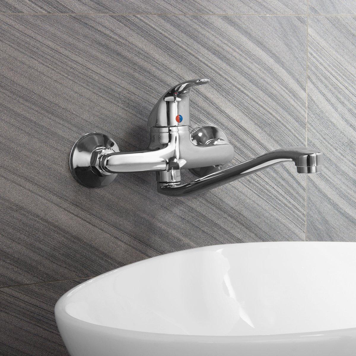 QOJA zinc alloy bathroom bathtub mixer tap single handle hot & by QOJA