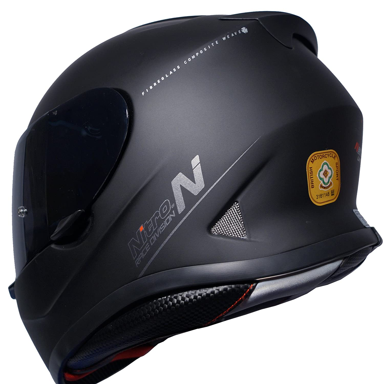 Casco integral para motocicleta Nitro N3100 Blackout color negro mate y visera oscura