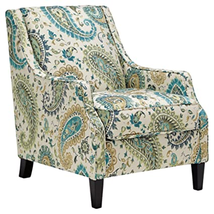Superbe Benchcraft   Lochian Casual Paisley Accent Chair   Jade