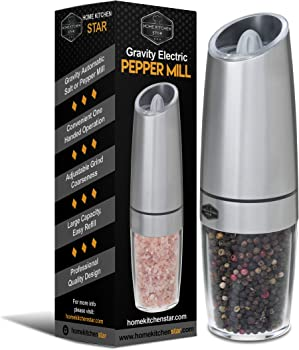 Homekitchenstar Salt and Pepper Grinder Set