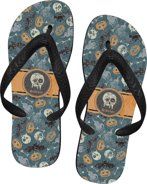 Vintage / Grunge Halloween Flip Flops (Personalized)