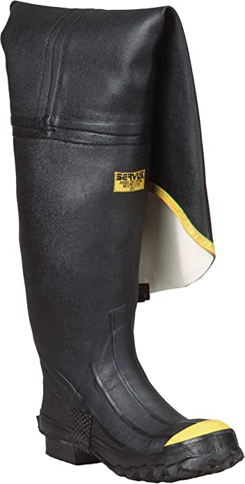 "Ranger 36/"" Heavy-Duty Men/'s Full Rubber Hip Boots with Steel Toe T112"