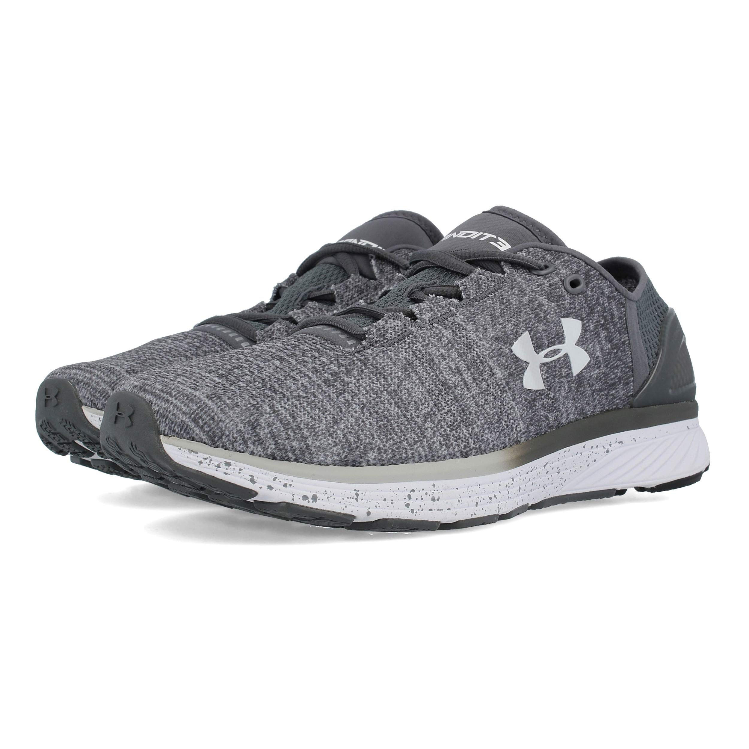 2b25232d Under Armour Men's Charged Bandit 3 Running Shoe, Glacier (002)/Rhino Gray,  9.5