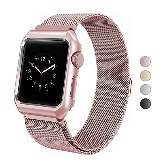 Amazon.com  SIXRARI Compatible Apple Watch Band with Case 42mm ... 301c2519a