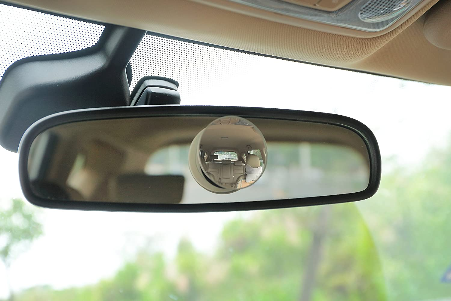Pack of 2 Fixed and 360/° Adjustable Angle Use - Rear View Two-Way Design Round 2 Convex Glass Mirror Dependable Direct HD Frameless Blind Spot Mirror
