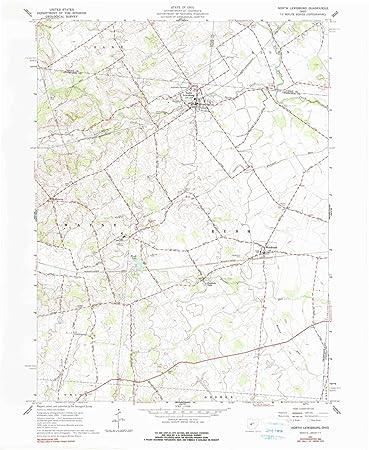 Lewisburg Ohio Map.Amazon Com Yellowmaps North Lewisburg Oh Topo Map 1 24000 Scale