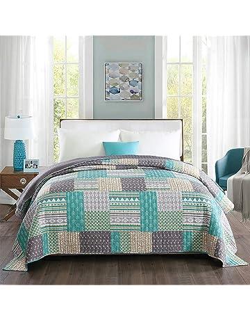 WOLTU Couverture de lit Patchwork, jeté de lit 170x210cm Couvre-lit  matelassée pour lit 602c85ea45e