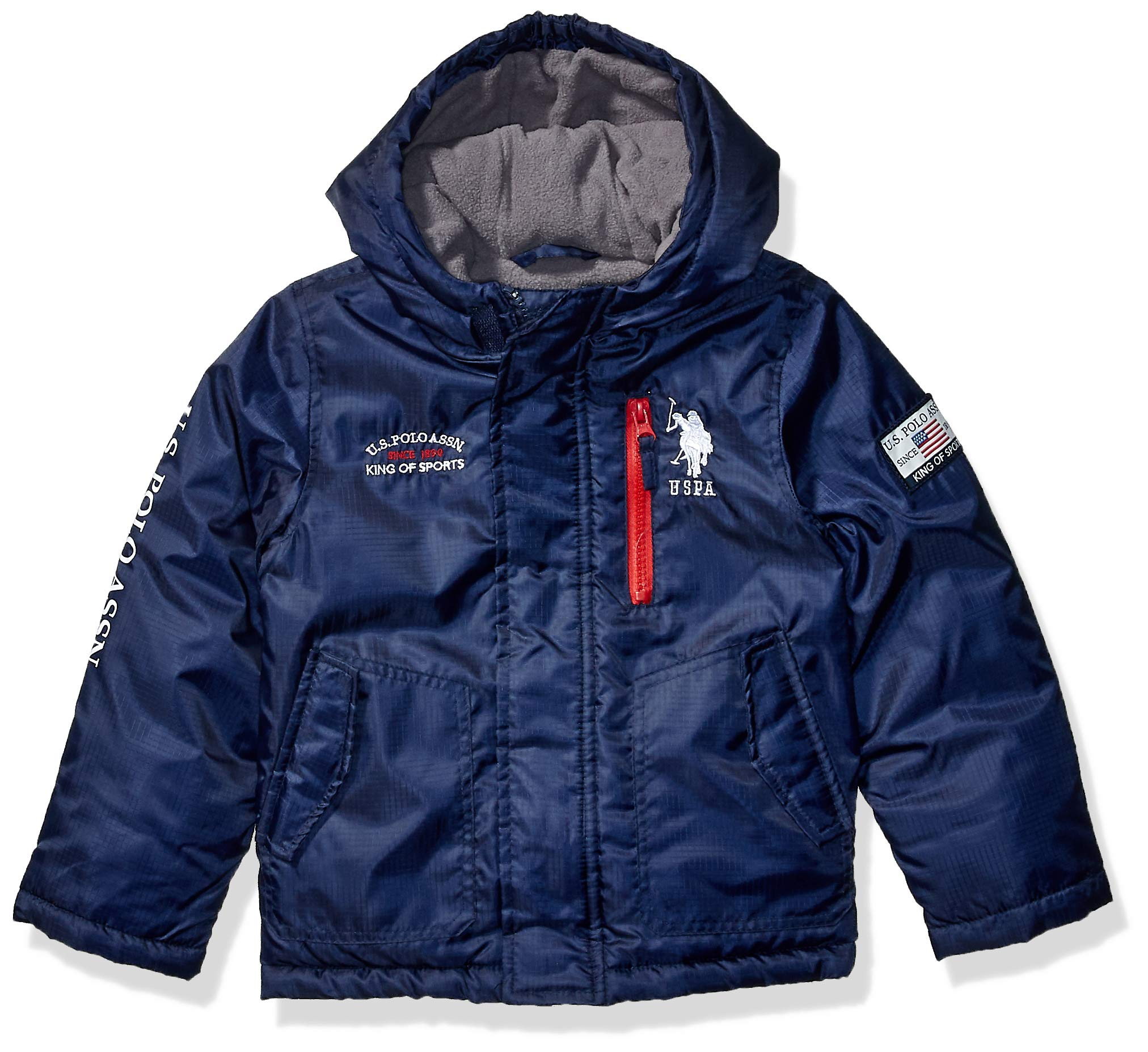 US Polo Association Boys' Toddler Fashion Outerwear Jacket (More Styles Available), Primo Navy, 2T by U.S. Polo Assn.