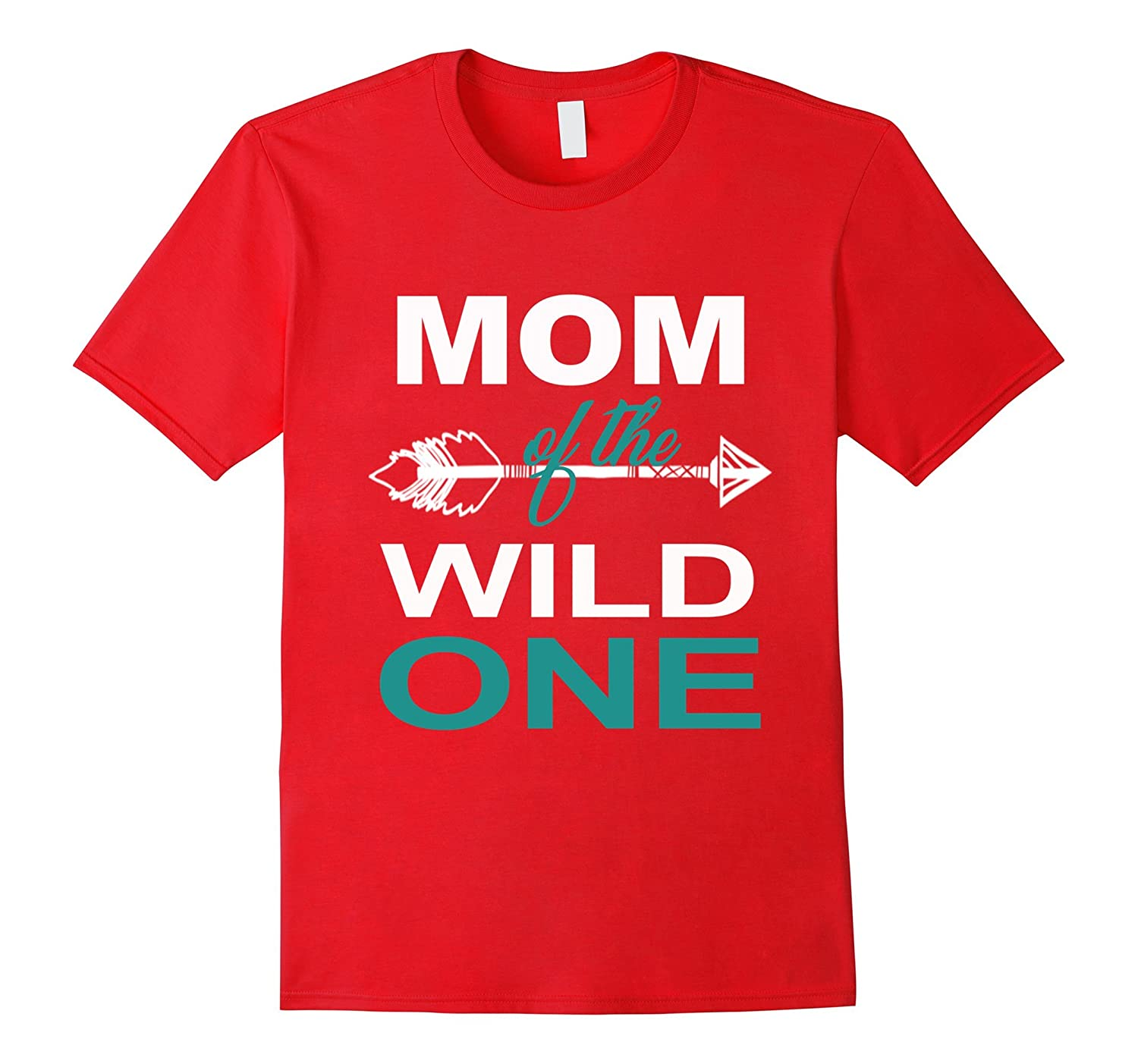 Womens Mom Of The Wild One Mother Couples T-Shirt-PL