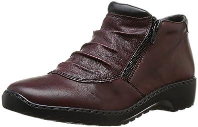 Rieker L6052-35, Sneakers Hautes femme, Rouge (Rouge Combiné), 37 EU (4 UK)