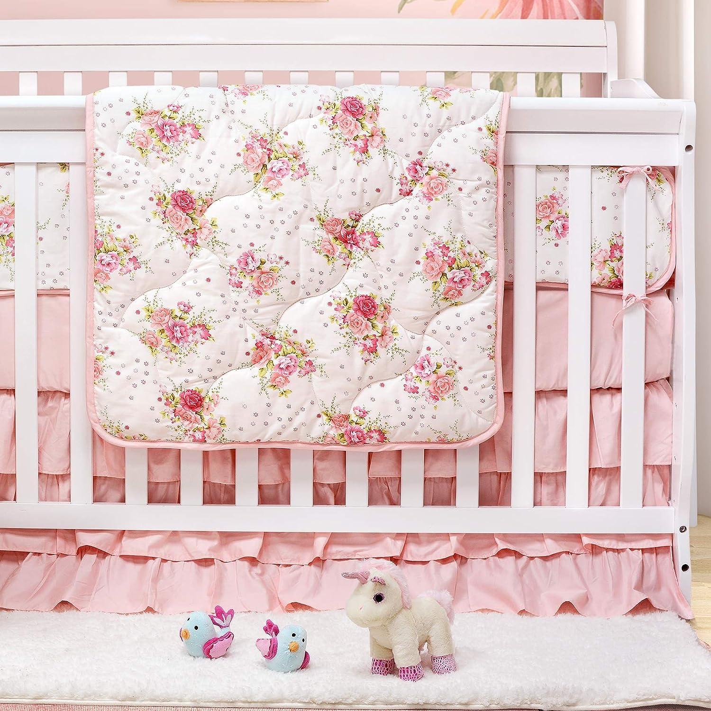 Amazon Com Brandream Crib Bedding Sets For Girls Blush Floral